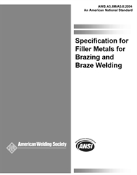 Picture of A5.8/A5.8M:2004 SPECIFICATION FOR FILLER METALS FOR BRAZING AND BRAZE WELDING (HISTORICAL)