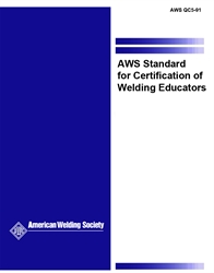 Picture of QC5:1991 STANDARD FOR CERTIFICATION OF WELDING EDUCATORS
