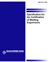 Picture of QC13:2006 SPECIFICATION FOR THE CERTIFICATION OF WELDING SUPERVISORS