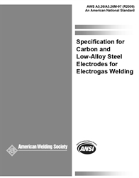 Picture of A5.26/A5.26M:1997(R2009) SPECIFICATION FOR CARBON AND LOW-ALLOY STEEL ELECTRODES FOR ELECTROGAS WELDING