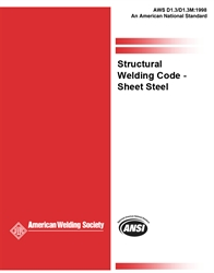 Picture of D1.3:1998 STRUCTURAL WELDING CODE SHEET STEEL PHOTOCOPY (HISTORICAL)