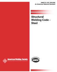 Picture of D1.1/D1.1M:2008 STRUCTURAL WELDING CODE - STEEL W/2009 ERRATA (HISTORICAL)