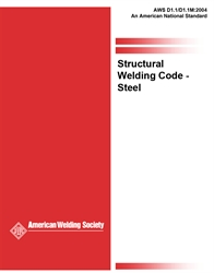 Picture of D1.1/D1.1M:2004 STRUCTURAL WELDING CODE -  STEEL (HISTORICAL)