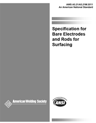 Picture of A5.21/A5.21M:2011 SPECIFICATION FOR BARE ELECTRODES AND RODS FOR SURFACING