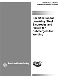 Picture of A5.23/A5.23M:2007 SPECIFICATION FOR LOW-ALLOY STEEL ELECTRODES AND FLUXES FOR SUBMERGED ARC WELDING (HISTORICAL)