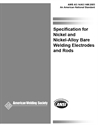 Picture of A5.14/A5.14M:2005 SPECIFICATION FOR NICKEL AND NICKEL-ALLOY BARE WELDING ELECTRODES AND RODS (HISTORICAL)
