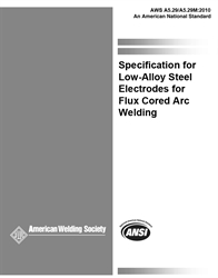 Picture of A5.29/A5.29M:2010 SPECIFICATION FOR LOW-ALLOY STEEL ELECTRODES FOR FLUX CORED ARC WELDING (HISTORICAL)