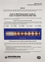 Picture of D18.2:2009 GUIDE TO WELD DISCOLORATION LEVELS ON INSIDE OF AUSTENITIC STAINLESS STEEL TUBE (SMALL)