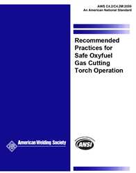 Picture of C4.2/C4.2M:2009 RECOMMENDED PRACTICES FOR SAFE OXYFUEL GAS CUTTING TORCH OPERATION (HISTORICAL)