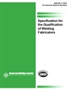 Picture of B5.17:2004 SPECIFICATION FOR THE QUALIFICATION OF WELDING FABRICATORS (HISTORICAL)