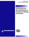 Picture of C1.5:2005 SPECIFICATION FOR THE QUALIFICATION OF RESISTANCE WELDING TECHNICIAN (HISTORICAL)