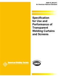 Picture of F2.3M:2011 SPECIFICATION FOR USE AND PERFORMANCE OF TRANSPARENT WELDING CURTAINS AND SCREENS