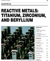 Picture of BHC30 - REACTIVE METALS: TITANIUM, ZIRCONIUM, AND BERYLIUM