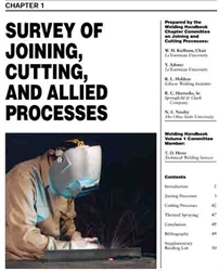 Picture of WHC1.01 SURVEY OF JOINING, CUTTING, AND ALLIED PROCESSES