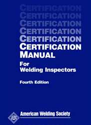 Picture of CM CERTIFICATION MANUAL FOR WELDING INSPECTORS (AWS CM)