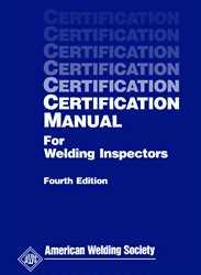 aws bookstore aws cm certification manual for welding inspectors rh pubs aws org certification manual for welding inspectors free download certification manual for welding inspectors egpet