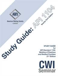 Picture of API-M:2017 STUDY GUIDE FOR API STANDARD 1104 WELDING OF PIPELINES AND RELATED FACILITIES