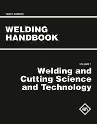 Picture of WHB-1.10 WELDING HANDBOOK VOLUME 1 - WELDING AND CUTTING SCIENCE AND TECHNOLOGY (AWS WHB-10.1)