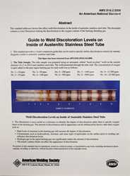 Picture of D18.2:2020 GUIDE TO WELD DISCOLORATION LEVELS ON INSIDE OF AUSTENITIC STAINLESS STEEL TUBE (SMALL)